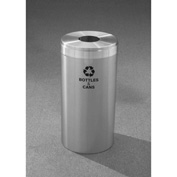 Glaro Value Recyclepro Single Stream Satin Aluminum, 23 Gallon Bottles/Cans -B-1542-SA