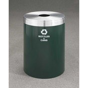Glaro Value Recyclepro Single Stream Hunter Green/Satin Aluminum, 41 Gallon Bottles/Cans -B-2042