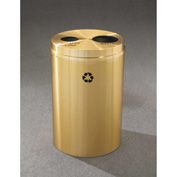 Glaro Recyclepro 2 Stream Satin Brass, (2) 16-1/2 Gallon Bottles/Cans/Waste - BW-2032-BE