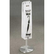 Floor Standing Satin Aluminum Wet Umbrella Bag Holder