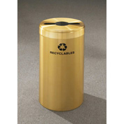 Glaro Value Recyclepro Single Stream Satin Brass, 15 Gallon Mixed Recycle - M-1242-BE