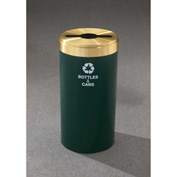 Glaro Value Recyclepro Single Stream Burgundy/Satin Aluminum, 23 Gallon Mixed Recycle - M-1542