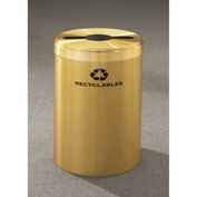 Glaro Value Recyclepro Single Stream Satin Brass, 41 Gallon Mixed Recycle - M-2042-BE