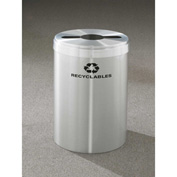 Glaro Value Recyclepro Single Stream Satin Aluminum, 41 Gallon Mixed Recycle - M-2042-SA