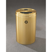 Glaro Recyclepro 2 Stream Satin Brass, (2) 16-1/2 Gallon Mixed Recycle/Trash - MT-2032-BE