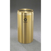 Glaro Recyclepro Single Stream Satin Brass, 12 Gallon Paper - P-1232-BE