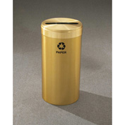 Glaro Value Recyclepro Single Stream Satin Brass, 15 Gallon Paper - P-1242-BE