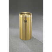 Glaro Recyclepro Single Stream Satin Brass, 16 Gallon Paper - P-1532-BE