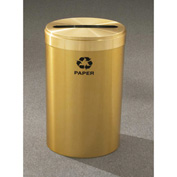 Glaro Value Recyclepro Single Stream Satin Brass, 23 Gallon Paper - P-1542-BE