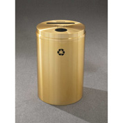 Glaro Recyclepro 2 Stream Satin Brass, (2) 16-1/2 Gallon Paper/Bottles/Cans - PC-2032-BE