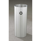 Glaro Recyclepro Single Stream Open Top Satin Aluminum, 14 Gallon Recycle - RO-1229-SA