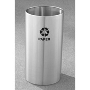 Glaro Recyclepro Single Stream Open Top Satin Aluminum, 22 Gallon Recycle - RO-1529-SA
