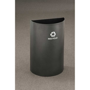 Glaro Value Recyclepro Half Round Collection Open Top Silver Vein, 16 Gallon - RO1899