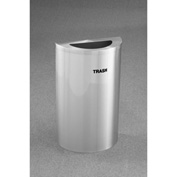 Glaro Value Recyclepro Single Stream Half Round Satin Aluminum, 16 Gallon Trash - T1899VSA