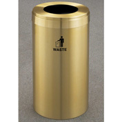 Glaro Value Recyclepro Single Stream Satin Brass, 15 Gallon Waste - W-1242-BE