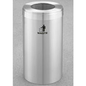 Glaro Value Recyclepro Single Stream Satin Aluminum, 15 Gallon Waste - W-1242-SA