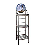 "Art Silhouette Bakers Rack 15""W - Boston Light (Satin Black)"