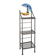 "Art Silhouette Bakers Rack 15""W - Cape Hatteras (Aged Iron)"