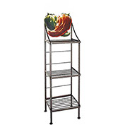 "Art Silhouette Bakers Rack 15""W - Chili Pepper (Gun Metal)"