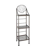 "Art Silhouette Bakers Rack 15""W - Clam (Satin Black)"