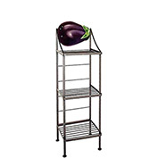 """Art Silhouette Bakers Rack 15""""W - Eggplant (Aged Iron)"""