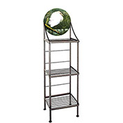 "Art Silhouette Bakers Rack 15""W - Egrets (Burnished Copper)"