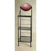 "Art Silhouette Bakers Rack 15""W - Football (Gun Metal)"