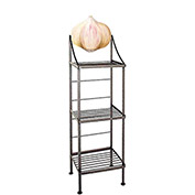 "Art Silhouette Bakers Rack 15""W - Garlic (Ivory)"