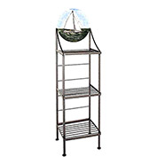 "Art Silhouette Bakers Rack 15""W - Heave-To (Burnished Copper)"