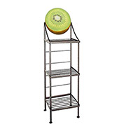 "Art Silhouette Bakers Rack 15""W - Kiwi (Satin Black)"