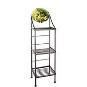 "Art Silhouette Bakers Rack 15""W - Lettuce (Satin Black)"