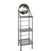 """Art Silhouette Bakers Rack 15""""W - Light In The Storm (Aged Iron)"""
