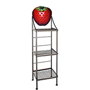"Art Silhouette Bakers Rack 15""W - Strawberry (Gun Metal)"