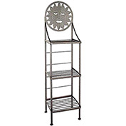 "Art Silhouette Bakers Rack 15""W - Sun (Deep Red)"