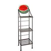 "Art Silhouette Bakers Rack 15""W - Watermelon (Satin Black)"