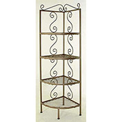 """Corner Rack - With Brass Tips 18""""W (Deep Red)"""