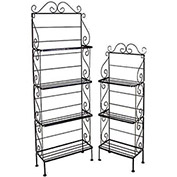 "Light Duty Four Shelf Rack - No Tips 18""W (Aged Iron)"