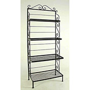 "Graduated Four Shelf Rack - With Brass Tips 24""W (Jade Teal)"