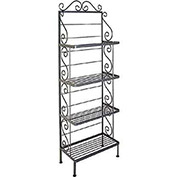 "Standard Four Shelf Rack - With Brass Tips 24""W (Antique Bronze)"