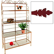 """French Bow Rack - No Tips 30""""W (Deep Red)"""
