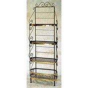 "French Bow Rack - With Brass Trim & Tips 30""W (Satin Black)"
