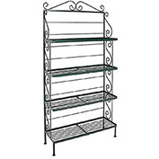 "Standard Four Shelf Rack - With Brass Tips 36""W (Ivory)"