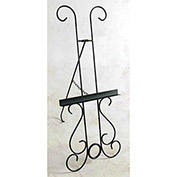 "Easel, Wrought Iron - New Orleans Style 25""W (Deep Red)"