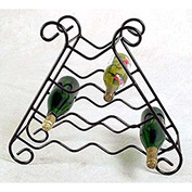 Wine Rack 10 Bottle (Deep Red)