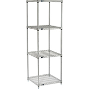 "Nexelate Wire Shelving, 24""W X 24""D X 74""H"