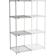 "Nexelate Wire Shelving Add-On, 24""W X 24""D X 74""H"