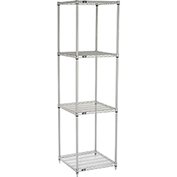 "Nexelate Wire Shelving, 24""W X 24""D X 86""H"
