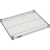"Nexel S1824EP Nexelate Wire Shelf 24""W x 18""D with Clips"