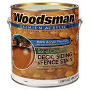 Woodsman 100% Acrylic Latex Deck, Siding & Fence Wood Stain, Rustic Brown, Gallon - 164487