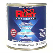 X-O Rust Anti-Rust Enamel, Gray Primer, 1/2 Pint - 176807